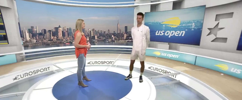 Eurosport onthult mixed-reality Cube studio voor US Open