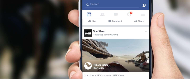 Facebook ondersteunt 360 graden-video's