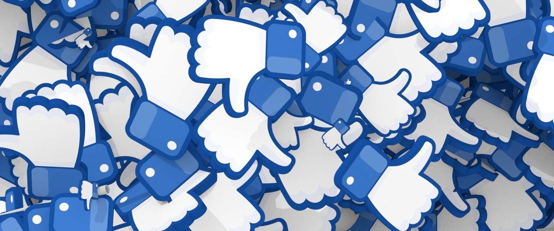 Nieuwe 'downvote'-knop die Facebook test is geen 'dislike'