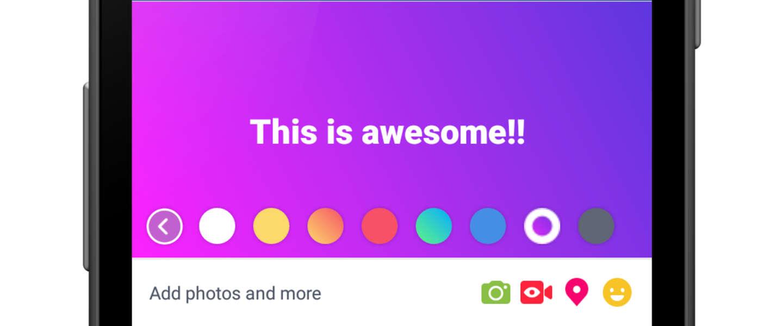 Facebook statusupdates worden binnenkort een stuk kleurrijker