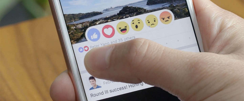 Facebook reactions nu wereldwijd beschikbaar