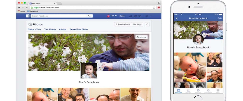 Facebook scrapbook speciaal ontwikkeld voor kinderen