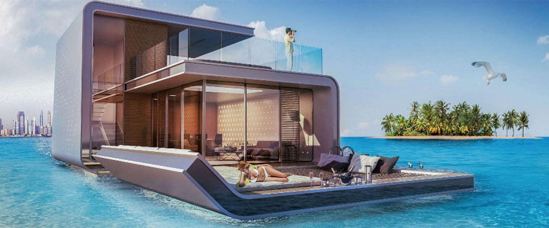 Koop je eigen Floating Seahorse; een drijvende villa in Dubai vol design