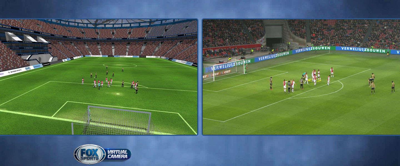 De topper Feyenoord - PSV ook met een virtuele camera te volgen