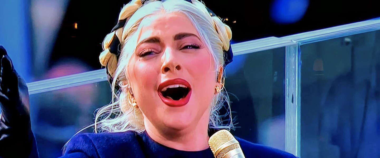 Lady Gaga steelt de show tijdens de inhuldiging van Joe Biden