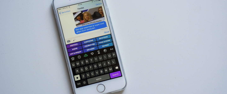 Gemakkelijk gifjes versturen met je iPhone met Giphy Keys