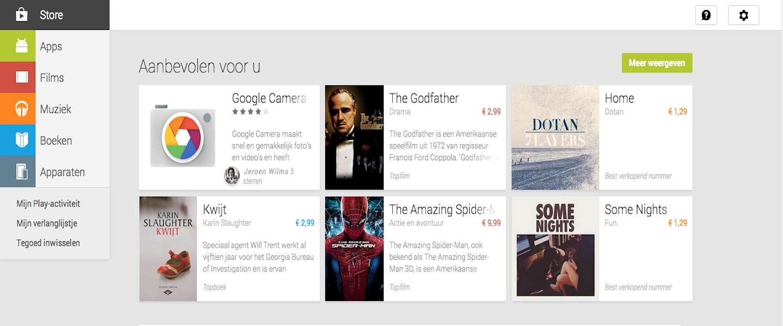 Films nu ook beschikbaar via Google Play in Nederland