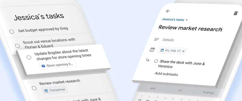 Google lanceert nieuwe to-do app Tasks met vernieuwde Gmail