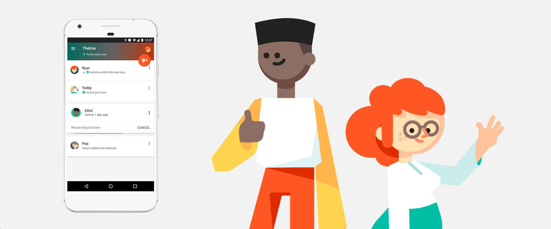 Met Google's Trusted Contacts-app deel je je locatie met je naasten