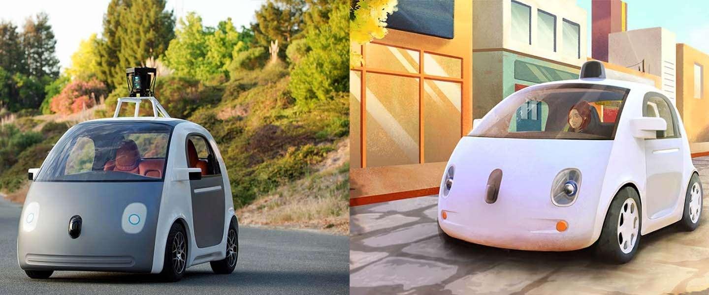 Prototype van Google's zelfrijdende auto heeft geen stuur, gas- of rem-pedaal