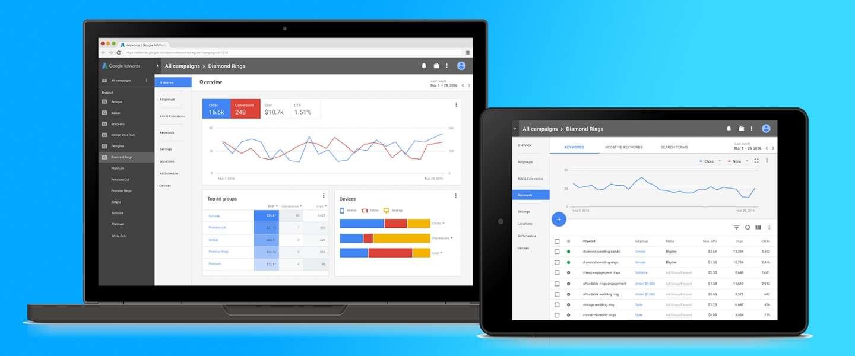 Google verandert Adwords interface