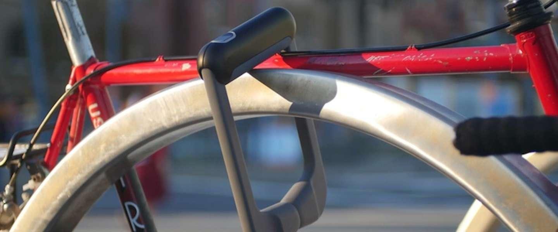 Dit slimme fietsslot kun je met een vingerafdruk openen