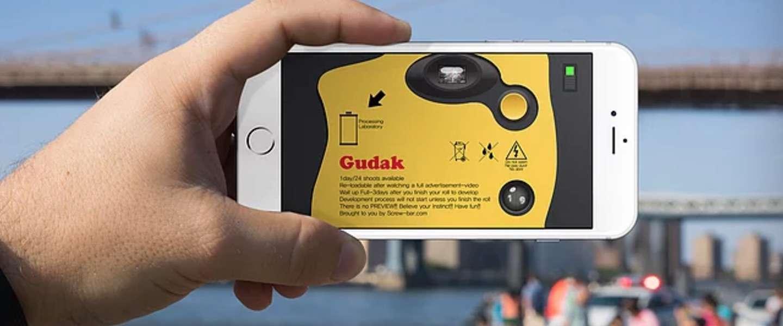 Gudak Cam-app maakt van je smartphone weer een wegwerpcamera