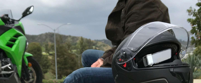 Een lens op je helm die apps projecteert