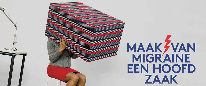 Deze nieuwe campagne maakt van migraine een hoofdzaak