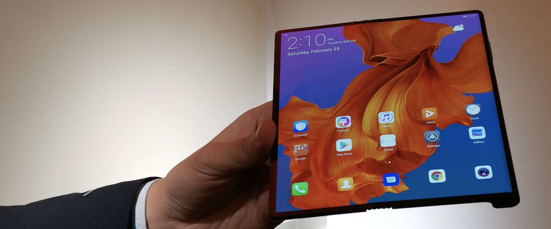 Debuut Huawei's vouwbare Mate X smartphone voorlopig uitgesteld