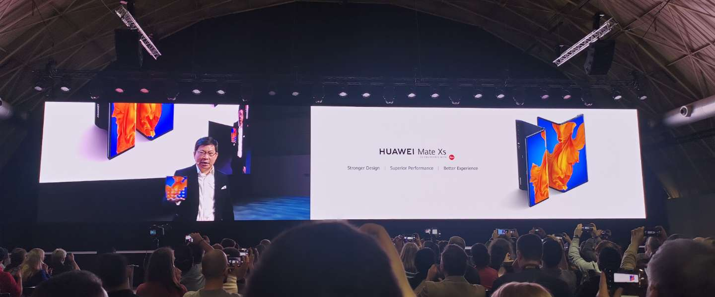 Huawei kondigt vouwbare Huawei Mate Xs aan