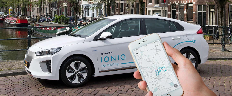 Hyundai start Car Sharing-project met 100 elektrische Hyundai's IONIQ in Amsterdam