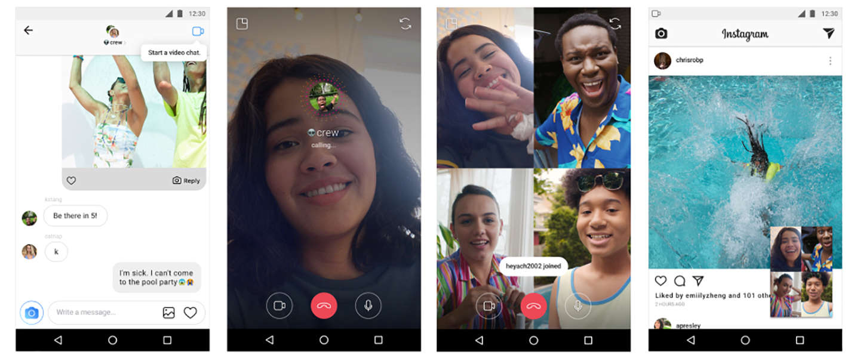 Op Instagram kun je nu videochatten met 3 mensen