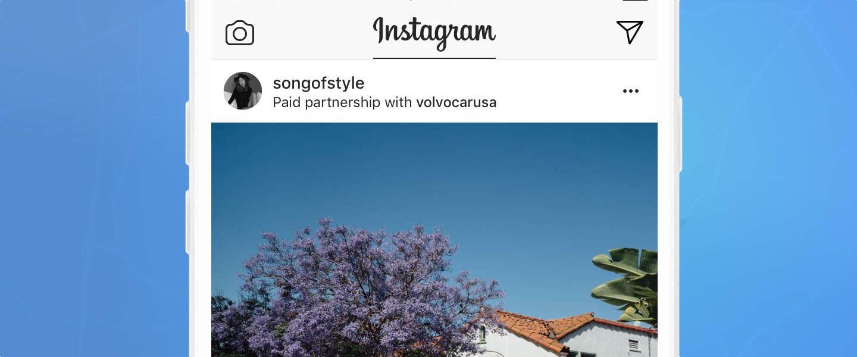 Instagram markeert gesponsorde posts binnenkort heel duidelijk