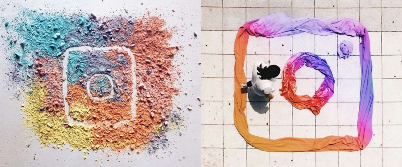 Kunstenaars creëren nieuwe Instagram-logo's