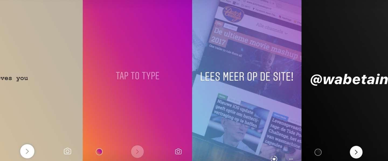 Instagram krijgt nieuwe tekst-opties voor Stories