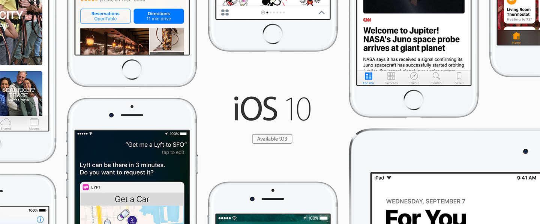 iOS 10 vanaf 13 september te downloaden