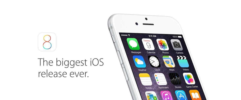 iOS 8 vraagt om 5,6GB vrije ruimte!