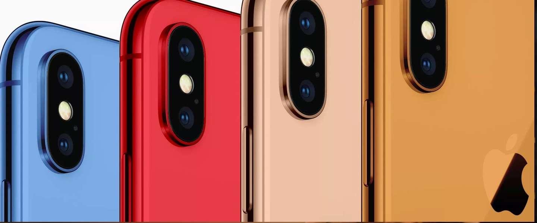 Apple's 2018 iPhones krijgen vier nieuwe kleuren