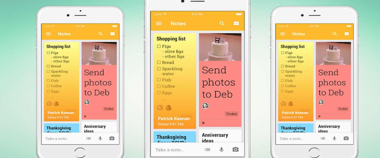 Google komt met iOS-versie van notitie-app Keep