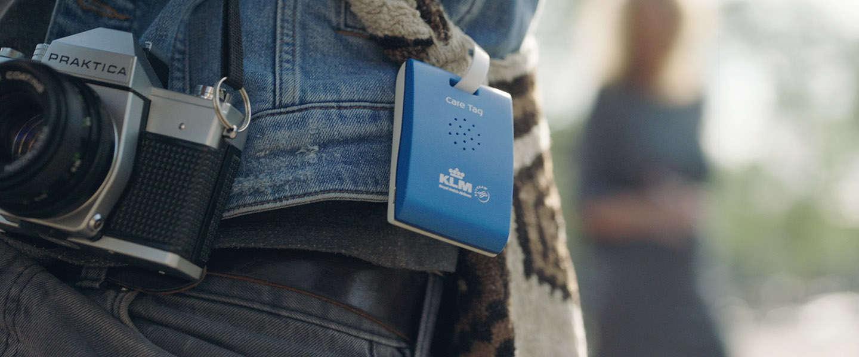 De KLM Care Tag helpt reizigers  Amsterdam te ontdekken