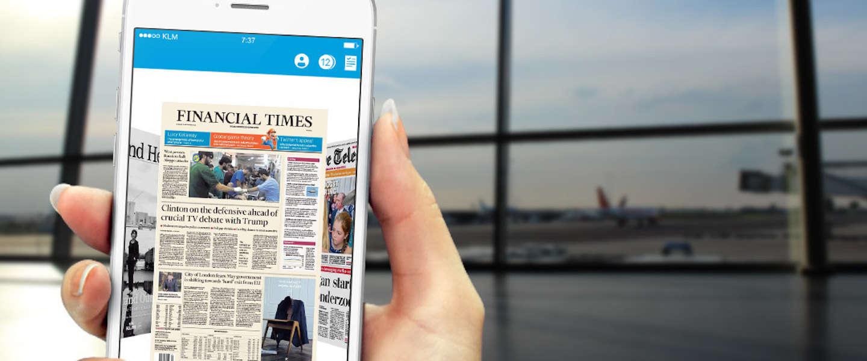 Offline kranten lezen op je smartphone tijdens KLM vluchten