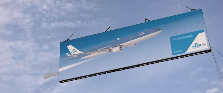 KLM creëert uniek billboard in Canada