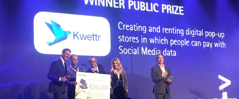 Kwettr wint Publieksprijs Accenture Innovation Awards 2016