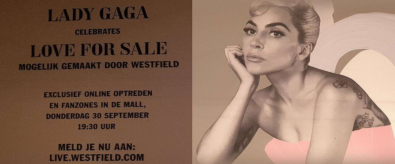 Love for sale in een winkelcentrum