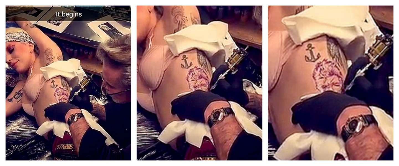 Lady Gaga herdenkt David Bowie met enorme tatoeage