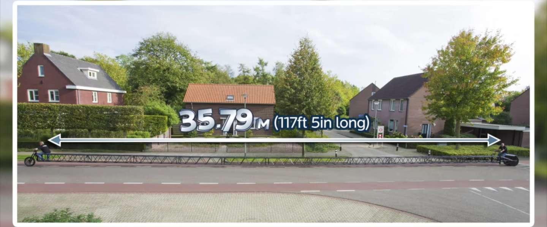 Langste fiets ter wereld is maar liefst 35,79 meter en komt uit Nederland!