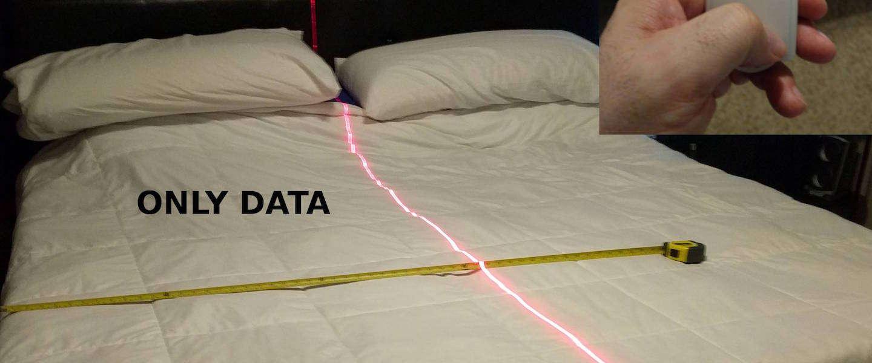 Een simpele laserstraal laat precies zien tot waar haar helft loopt...