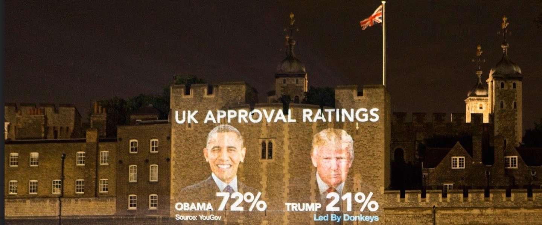 Londen steekt de draak met Trump