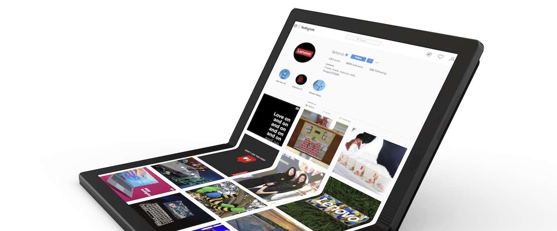 Lenovo presenteert eerste opvouwbare PC