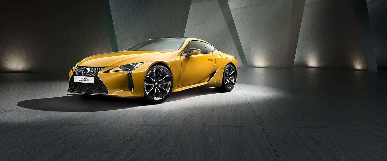 Nieuwe uitvoering van Lexus LC in exclusieve kleur Flare Yellow