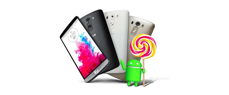 LG G3 krijgt Android Lollipop upgrade