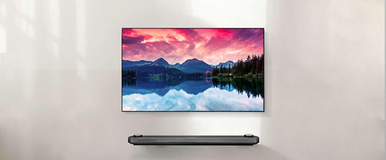 CES 2017: LG's superdunne 2,6mm OLED tv kun je tegen de muur plakken