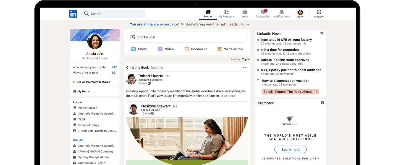 LinkedIn heeft een nieuw design en nieuwe functionaliteiten