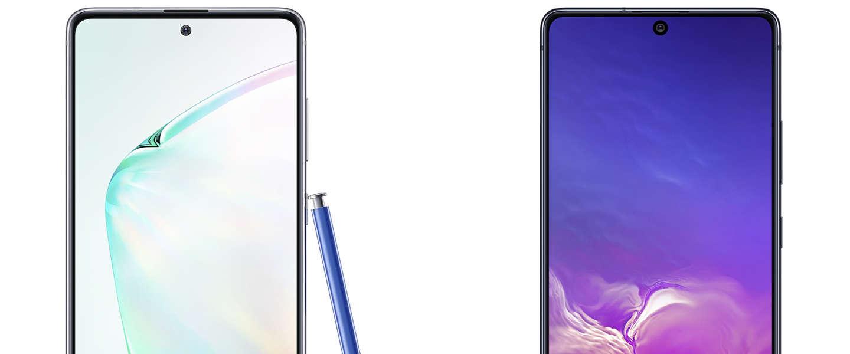 Nu ook Lite versies van de Samsung Galaxy S10 en Note10