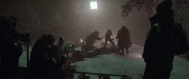 Behind the scenes bij het filmen van Game of Thrones - The Long Night