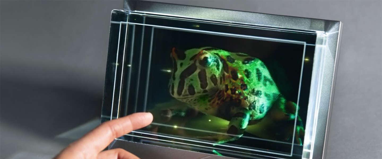 Gespot: een scherm waarmee je hologrammen kunt maken