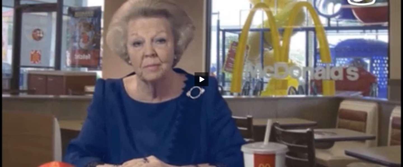 Hilarisch Lucky TV filmpje: Beatrix is jarig