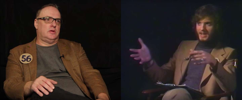 Man interviewt zijn 56-jarige zelf
