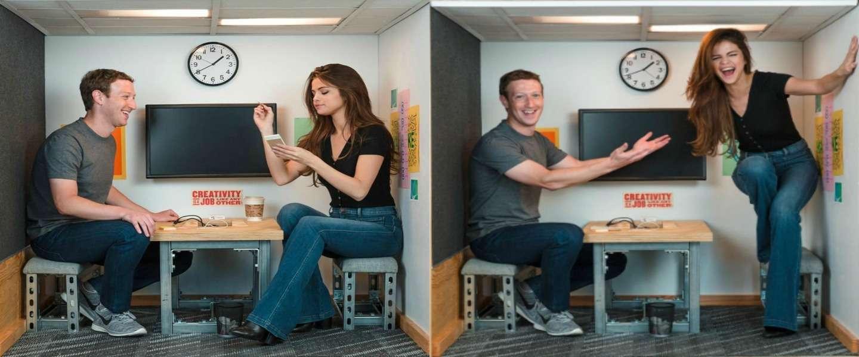 Mark Zuckerberg meets Selena Gomez